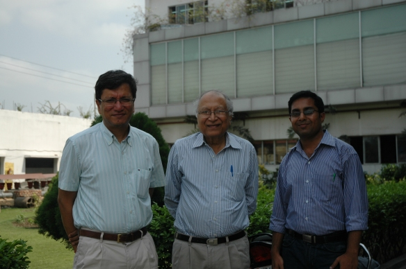 Sujal Basu, Mr Jaipuria Sr and Rajat Jaipuria at Rajlakshmi Kolkata