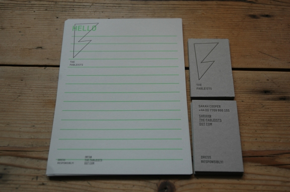 Fableists Stationary