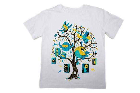 The Fableists T-Shirt 'Bird Rocker' by Steve Scott
