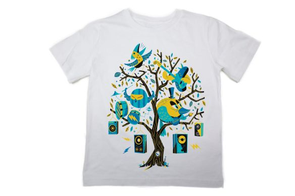 The Fableists T-Shirt 'Bird Rocker' by Steve Scott