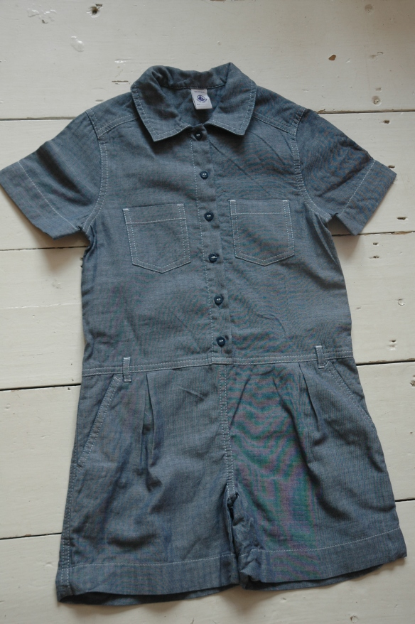 Petit Bateau Chambray Play Suit Bought on eBay