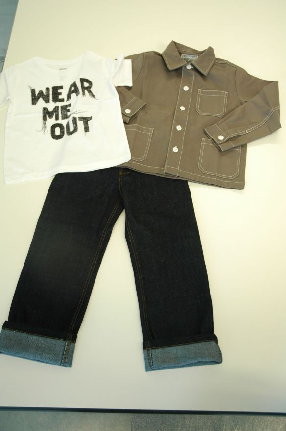 Shore Coat, Classic Jeans and 'Wear Me Out' T-Shirt Designed by Anthony Peters