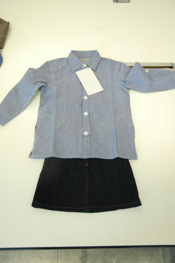 Smock Top and Denim Skirt