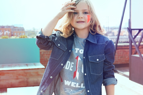 Amelie is wearing the Western Shirt and Crispin Finn's 'Made to Wear Well' Tee