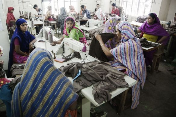 Garment Factory in Dhaka, Bangladesh - March 2010 Credits: Clean Clothes Campaign