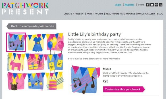 Use Patchwork Present to fund a birthday party for your child