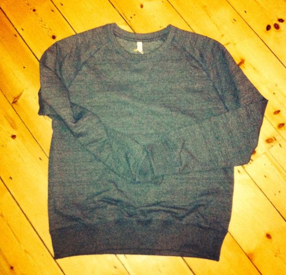Salvage sweatshirt from Continental Clothing. Made of 100% recycled materials 60% Recycled Organic Cotton 40% Recycled Polyester