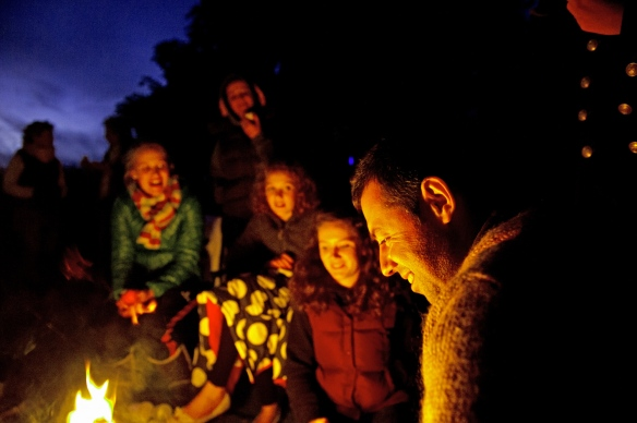 Camping at Highertown Campsite, Lansallos, Cornwall.