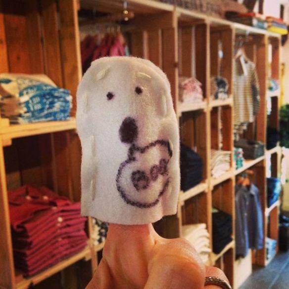 finger puppet ghost