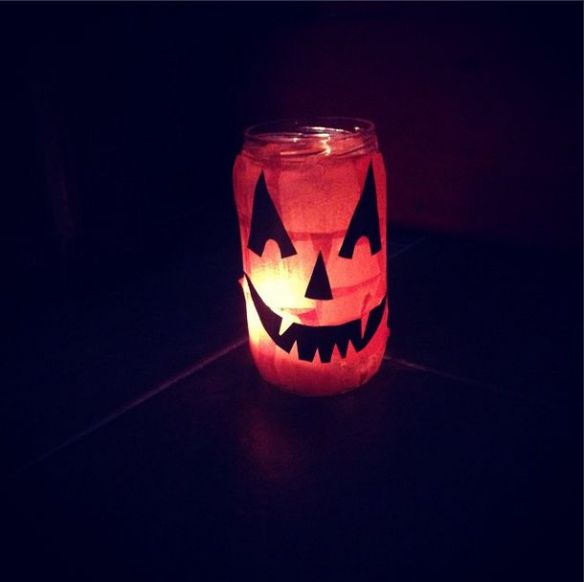halloween tea light