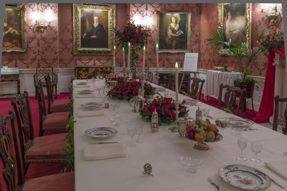 Dining room dressed Polesden Lacey credit Eddie Hyde