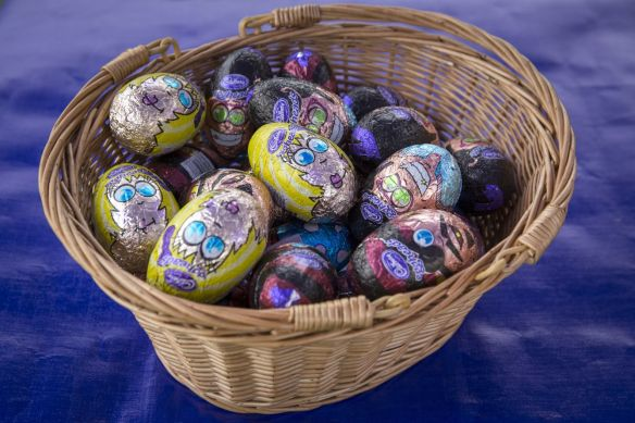 Easter eggs at Tyntesfield, North Somerset.