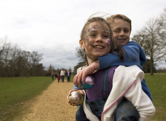 An Easter Egg Trail day at Charlecote Park, Warwickshire.